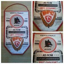 W179 WIMPEL EC BFC DYNAMO - AS ROM 1984 DDR Oberliga Sport Fußball DFV 17 Autogr