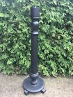 Antique Wood Pedestal Candle Stick Table Smoke Stand
