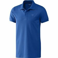 Mens adidas Originals Trefoil Pique Polo Shirt in Blue Various Sizes From Get M G75845ABLU246