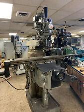 Sharp Heavy Duty Vertical Milling Machine 10 X 50 Table R8 Taper 3 Hp