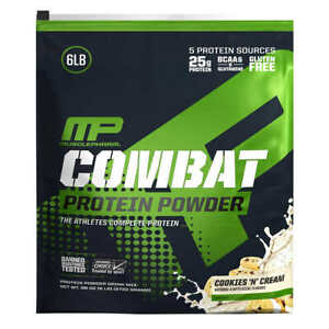 MusclePharm Combat Protein Powder 6 lbs,  Cookie & Cream Flavor