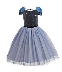 ELSA & ANNA® Girl Fancy Dress Snow Queen Princess Dress Halloween Costume EL2108