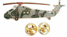 Wessex Camo Helicopter side View Enamel Lapel Pin Badge