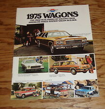 Original 1975 Chevrolet Station Wagon Sales Brochure 75 Chevy Caprice Blazer
