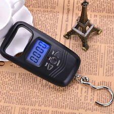 Portable 110lb/50kg Digital Electronic Scale Fishing Gear Tool + Backlight LCD