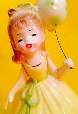 HAPPY BIRTHDAY Cute Josef Originals Girl Figurine Vintage 1950s Retro BALLOON