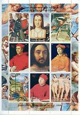 STAMP / TIMBRE / GUINEE BLOC ** NEUF N° 11324/1332 TABLEAUX ITALIEN RAPHAEL