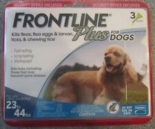 GENUINE Sealed FRONTLINE PLUS for DOGS 23-44 lbs 3 Month Supply - NEW 3 Doses