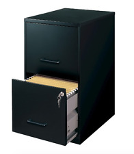 New HIRSH Black Vertical 2-Drawer Metal Filing Cabinet Storage