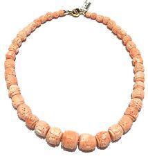 collana in corallo rosa cod 704161 lavorazione artigianale  e chiusura oro 18 kt