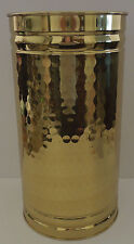 NWT! Bristol Tall Brass Bucket/Decorative Container with Hammered Finish USA