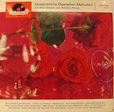 """UNSTERBLICHE OPERETTEN-MELODIEN MIT RITA STREICH UND SANDOR KONYA 12"""" LP (h626)"""