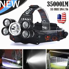 35000 Lumens 5X XM-L T6 LED Rechargeable Headlamp Headlight Travel Head Torch