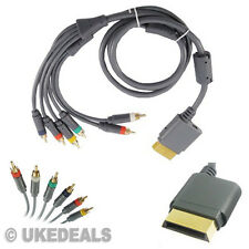 FOR XBOX360 2M Cable Gold HD RCA Component R/L AV Audio Video Optical Lead Wire