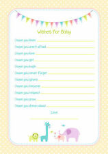 Baby Shower Game Wishes For Baby Neutral/Unisex Design HIGH QUALITY CARD