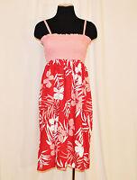 VTG 90s Pink Floral BoHo Hippie Mod CHIC Summer Party Sun Dress Sz XL