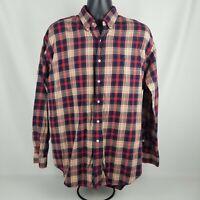 Polo Ralph Lauren Red Plaid Blaire 100% Cotton Button Down Dress Shirt Size L