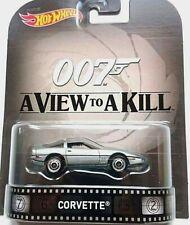 2015 HOT WHEELS RETRO ENTERTAINMENT - 007 JAMES BOND - A VIEW TO A KILL-CORVETTE