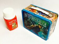 VINTAGE METAL LUNCHBOX with THERMOS 1983 STAR WARS RETURN OF THE JEDI