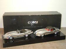 Jaguar E-Type Set (2) - Corgi Connoisseur Collection 1:43 in Box *39236