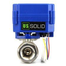 """3/4"""" Motorized Ball Valve Stainless Steel Electric Valve 9V 12V to 24 V, 3 wire"""