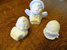 Bisque Easter chicks set of 3,  bisque to paint