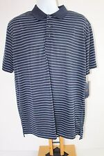 Jack Nicklaus  Golden Bear Golf Navy Stripe Shirt Top NEW NWT Men's Size L Large