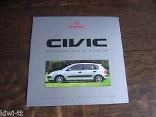 Honda Civic Accessoires D 'Origine (Accessoires) Brochure/DEPLIANT, F, 9.2000
