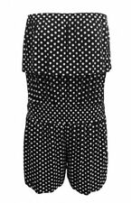 Polyester Spotted Sleeveless Jumpsuits & Playsuits for Women
