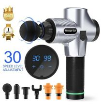 Silent Massage Gun New 2019 With Interchangeable Head Attachments And LCD Touch