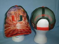 MIAMI HURRICANES  Brilliant Mesh Snapback CAP/HAT One Size Fits All NWT $25