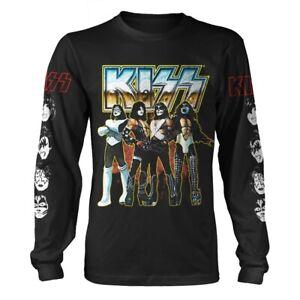 KISS Love Gun Chrome Men's Black Long Sleeve T-Shirt With Back Print
