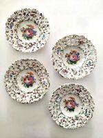 4 piatti in ceramica italiana di Nove di Bassano - Antonio Borsato Anni '50