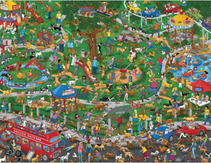 The Dog Park 500 piece jigsaw puzzle 596mm x 457mm (sk)
