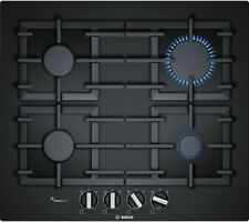 Bosch PPP6A6B90   Built In 59cm Gas on Glass Hob with Cast Iron Pan Supports