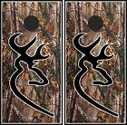 Camo Deer Head 024 cornhole board vinyl wraps stickers posters decals skins