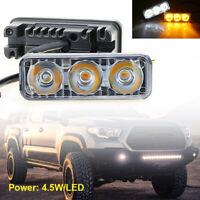 2 Stk LED Tagfahrlicht Tagfahrleuchten DRL Universal Auto Nebelscheinwerfer 12V