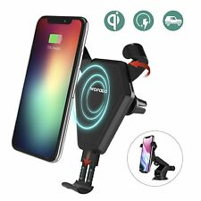 iPhone 8 Plus X Qi Wireless Car Charger Mount Vent Holder Galaxy Note S8 S7 S6
