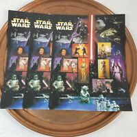 2007 Star Wars Collector Postage Stamp Set 3 Sheets of 15 Each 41 Cents New