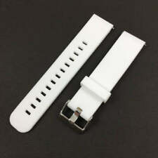 White Soft Silicone Replacement Watch Band Strap With Quick Release Pins #4109