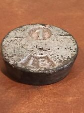 Antique Cast Iron 1 LB. Pound Weight for General Store Balance Scale