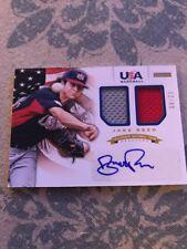 2012 Jake Reed Panini USA Baseball Rookie Auto Dual Jersey /99 - Minnesota Twins