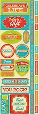 Reminisce CELEBRATE LIFE COMBO Cardstock Stickers scrapbooking