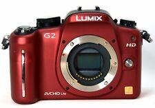 Panasonic LUMIX DMCG2 12.1MP Digital Camera - Red (Body Only,  Missing Eyepiece)