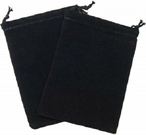 """(1) Chessex Small Dice Bag Black Velour Cloth with Drawstring Pouch 4"""" x 4.75"""""""