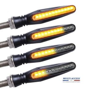 4 X Clignotants LED Séquentiel Ambre Moto Scooter Universel Ampoule Feu