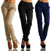 Mode Femme Taille Haute Casual Slim Pantalons Crayon Loisir Loose Plus Long