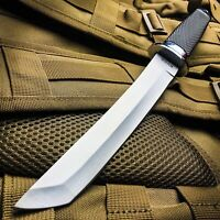 """Large 13"""" Full Tang AUS-6 Stainless Steel Tanto Tactical Combat Knife"""