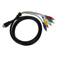 1.5M 5 FT HDMI a 5 RCA maschio Audio cavo component per Video Convert HDTV X6W9