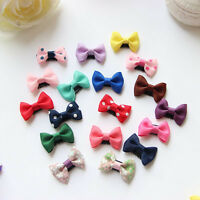 1-20x Kids Baby Girl's Ribbon Hair Bow Mini Latch Clips Hair Clip Hairpin LOT